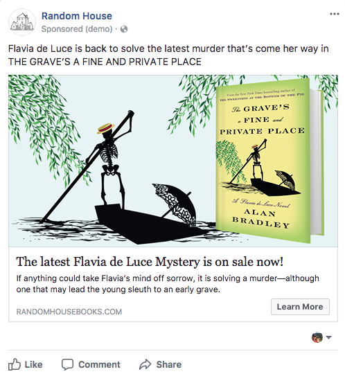 Penguin Random House Facebook advertisement campaign